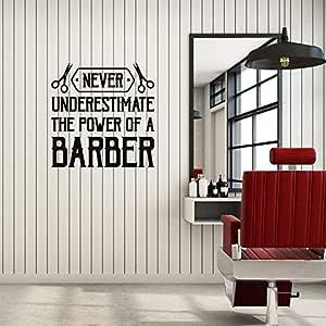 Ajcwhml Apliques de Pared de Vinilo Barber Quotes Barbershop ...