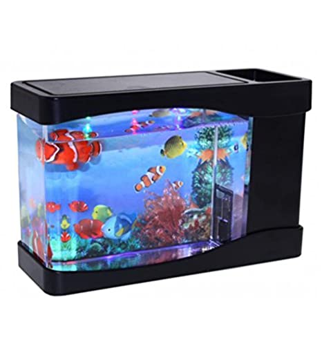Acuario Mini con luces Led