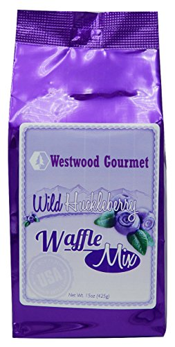Westwood Gourmet Waffle Mix with Jam, 15 oz (Wild Huckleberry)