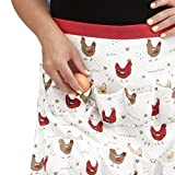 Chicken Egg Collecting & Gathering Apron 12 Pockets by Cackleberry Home, Farmhouse Chicken