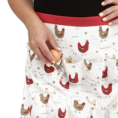 Crazy Chicken Lady Gift Egg Collecting Apron