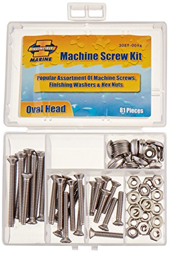 Invincible Marine Stainless Steel Machine Screw Kit, 81-Pieces