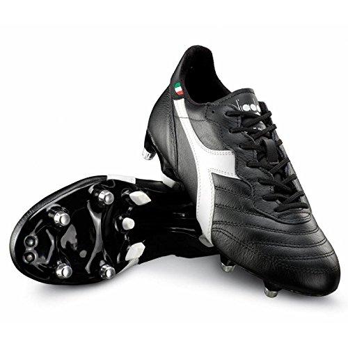 Diadora Brasil LT MPH Fútbol guantes piel fabricado en blanco y negro