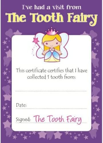 Tooth Fairy Certificate and Box