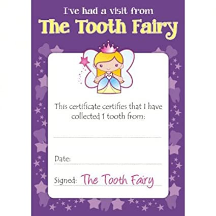 Amazoncom Tooth Fairy Certificates Office Products