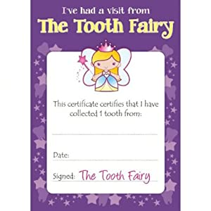 Revered image pertaining to tooth fairy certificates printable