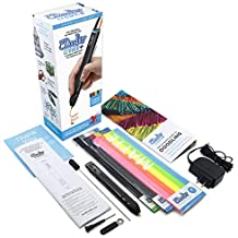 3Doodler Create+ 3D Printing Pen Set with 75 Filaments (600'. of Extruded Plastic), Onyx Black, 2019 Model