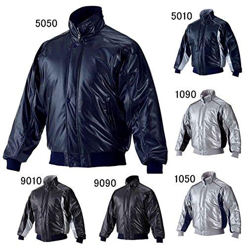 asics(アシックス) 野球 グラウンドコート 長袖 一般 BAG001 B00NSFCBG0 Large|ブラック×シルバー ブラック×シルバー Large