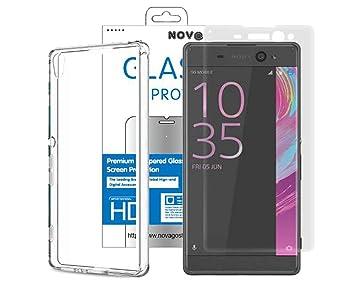 NOVAGO - Carcasa Transparente para Sony Xperia XA (2 en 1 ...
