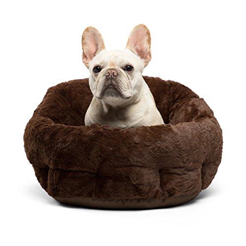 Best Friends by Sheri Deep Dish Cuddler in Lux, Dark Chocolate, One Size (Dog Beds Deep Dish)