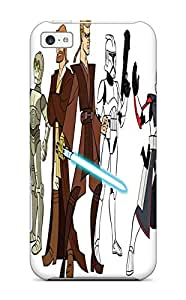 Iphone 5c Case, Premium Protective Case With Awesome Look - Star Wars Clone Wars