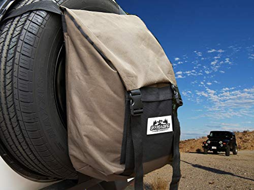 Spare Tire Trash and Gear Bag w/Seat Organizer - For Jeep/SUV/RV by Offroading Gear