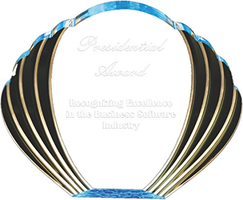 Woltman - Eagle Oval Acrylic Award (Colors available: Blue, Green, Red, Purple, Gold, Black, Clear Wrinkle)
