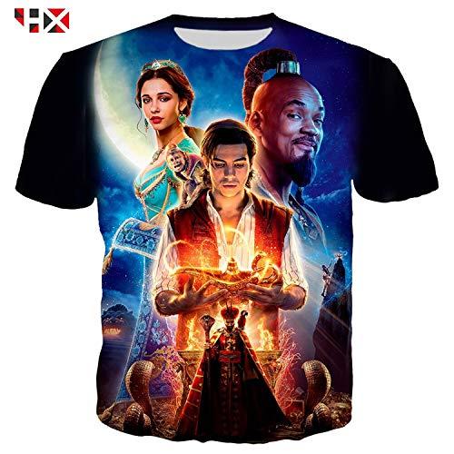 Aladdin Jasmine Costume Shirt Tshirt Cotton Abu Iago Lamp Adult Movie Merchandise Dress -