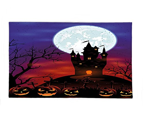 Halloween Costumes Castle Hill - Interestlee Fleece Throw Blanket Halloween Decorations Gothic Haunted House Castle on Top of Hill Valley Night Sky October Festival Theme Multi
