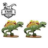 TACOsaurus Rex Taco Holder, Set of 2 - Dinosaur T-Rex Novelty Taco Stand Party Plate Serveware
