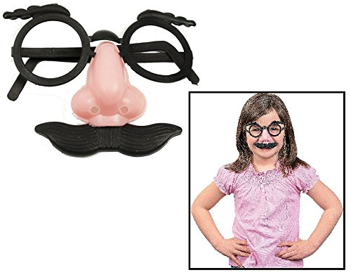 Child Nose, Eyebrows and Mustache Glasses (12 Pack) 3 1/2