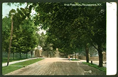 Hyde Park Road Poughkeepsie NY undivided back postcard 1907