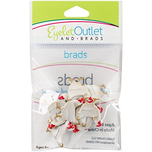 Eyelet Outlet Shape Brads 12/Pkg-Chicken 306430