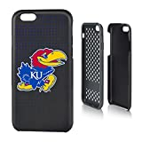 Keyscaper NCAA Kansas Jayhawks KU Dots Rugged Case for iPhone 6/6S, Black