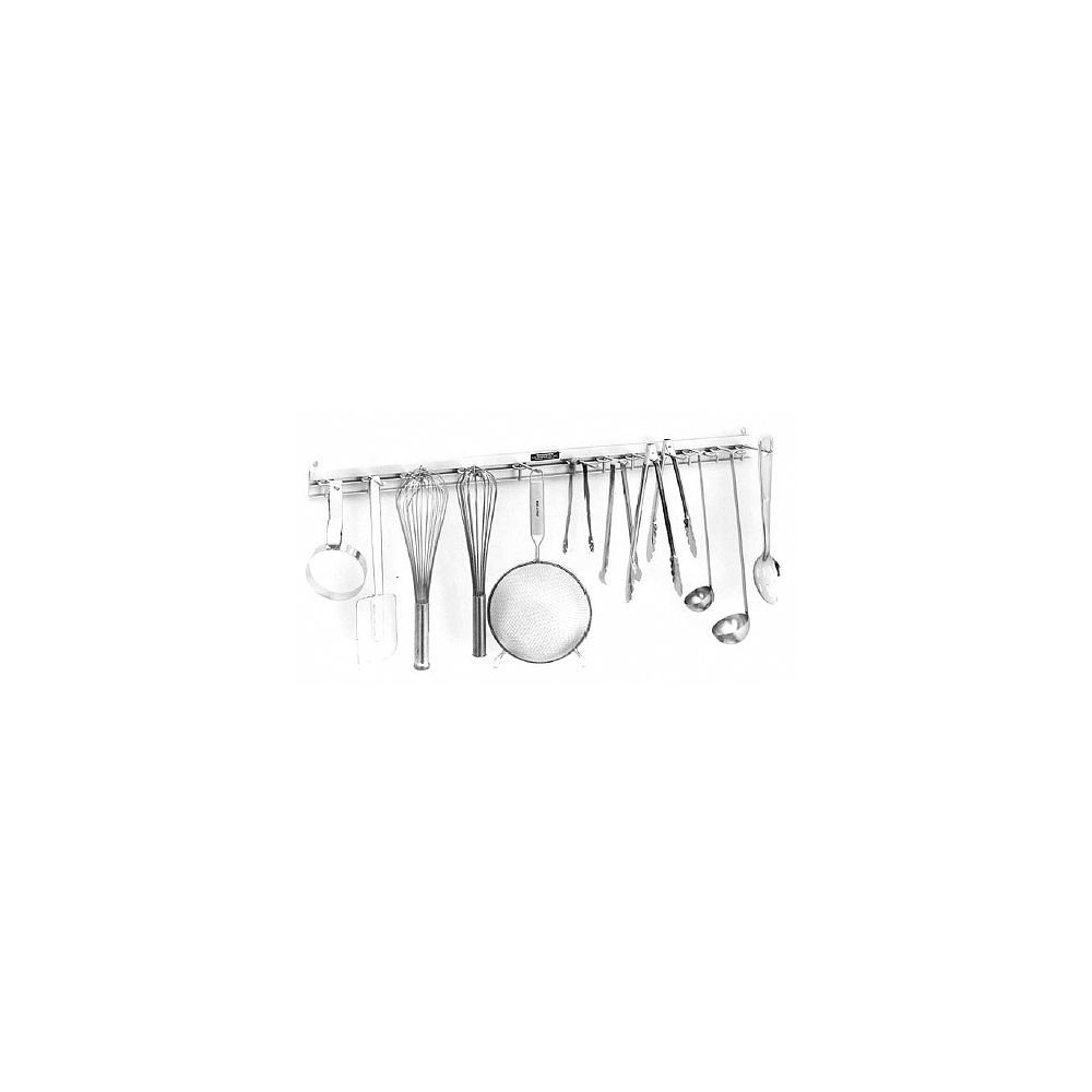 H.A. Sparke SRK-3 Aluminum 36'' Utensil Rack with 12 Hangers by H.A. Sparke