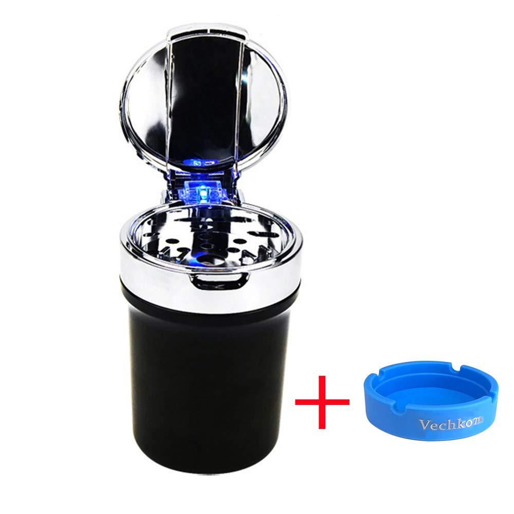 Cenicero del Cigarrillo del Coche Portavasos Automático con LED azul sin Humo Autoextinguible product image