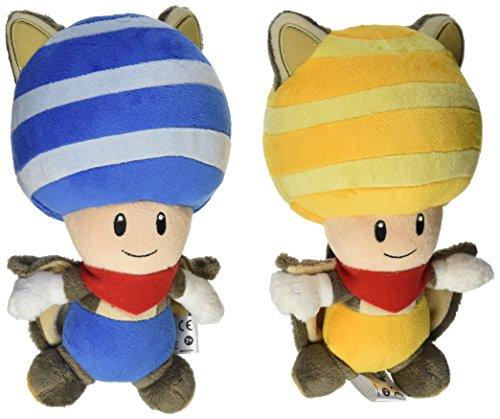 Little Buddy Mario Plush Doll Set of 2 - Flying Squirrel Blue (Plush Flying Squirrel)