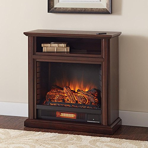 Hampton Bay 25-804-68 Ansley 31.5 in. Infrared Electric Fireplace heater