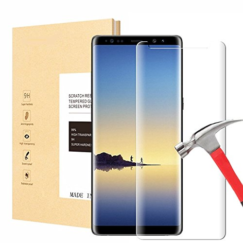 Galaxy Note 8 Screen Protector, Arhensive [9H Hardness] [Crystal Clear] [Bubble Free] [3D Curved] Tempered Glass Screen Protector for Samsung Galaxy Note 8 (Ultra Clear)