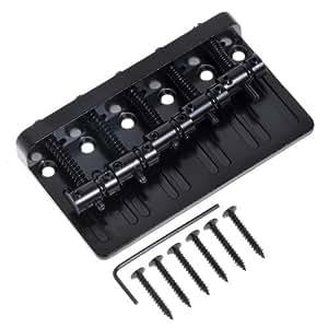 1pc black heavy duty 5 string bridge guitar parts for bass guitar replacement. Black Bedroom Furniture Sets. Home Design Ideas