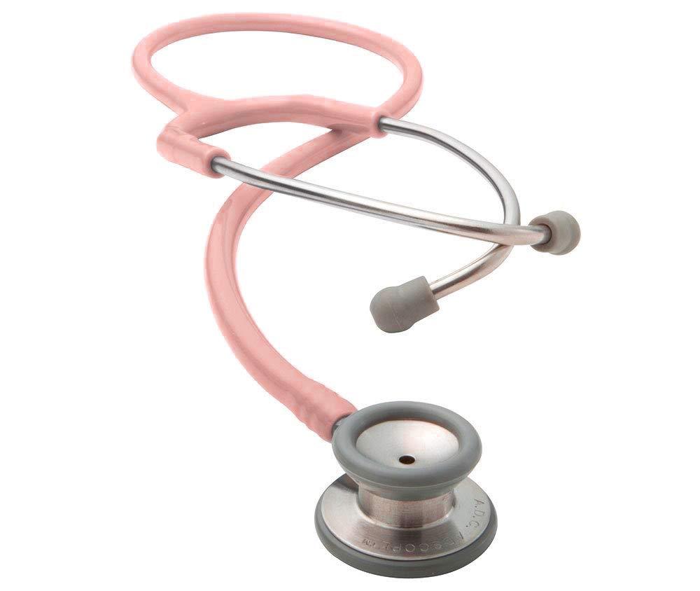 ADC Adscope 604 Pediatric Clinician Stethoscope, 30.5 inch Length, Pink
