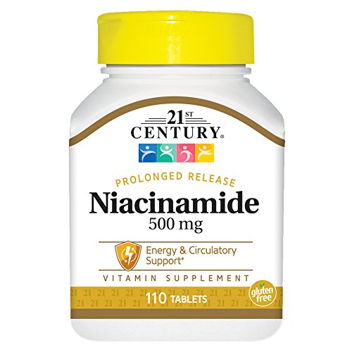 (21st Century Niacinamide 500 mg Prolonged Release Tablets, 110-Count)