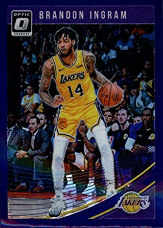 9a1c785e7f3 2018-19 Donruss Optic Purple #64 Brandon Ingram Los Angeles Lakers  Basketball Card