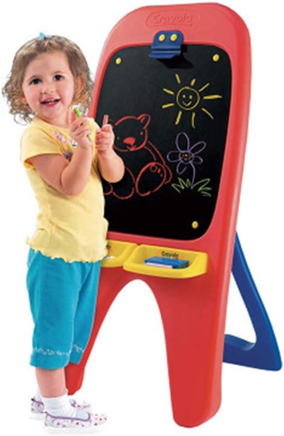 子供のポータブル片面大描画ボードプラスチックライティングボードアートイーゼル小さな黒板