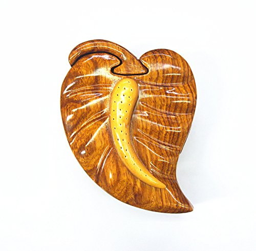 Anthurium Jewerly Puzzle Box by HawaiiUWT