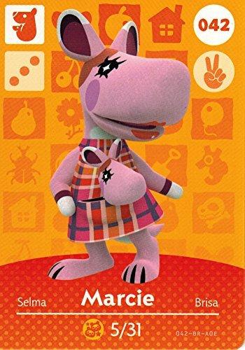 (Animal Crossing Happy Home Designer Amiibo Card Marcie 042/100)
