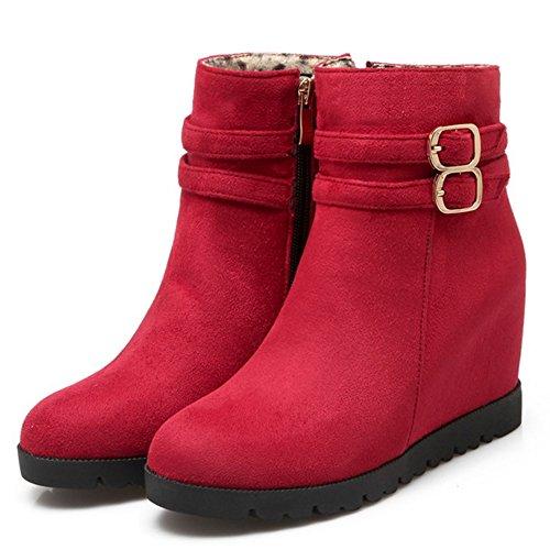 Red Botines Coolcept h Mujer Cremallera con para Hebillas 7qdYqCw