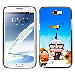 Qstar Arte & diseño plástico duro Fundas Cover Cubre Hard Case Cover para SAMSUNG Galaxy Note 2 II / N7100 ( Cartoon Kids Blue Movie Poster)