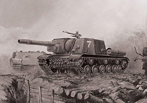 Zvezda Models Isu 152 Soviet Tank Destroyer Snap Fit  Model Kit