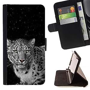 Momo Phone Case / Flip Funda de Cuero Case Cover - Angry Spots Felino Leopardo Negro Blanco - HTC Desire 626