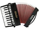 Fever Piano Accordion 22 Keys 8 Bass, Black
