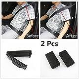 AUTO-Duo 2 Pcs Smart Seatbelt Adjuster Clip Buckle Shoulder Relax Neck Comfort Supports Seat Belt Clip