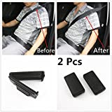 AUTO-Duo 2 Pcs Smart Seatbelt Adjuster Clip Buckle Shoulder Relax Neck Comfort Supports Seat Belt Clip