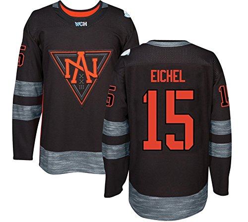 2016 World Cup Mens North America #15 EICHEL Custom Black Ice Hockey Jersey