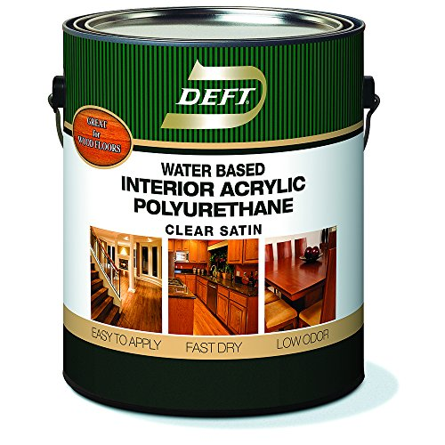 Polyurethane Clear Satin, DFT159/01, 1 gal, Water Based, Interior Acrylic Polyurethane