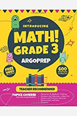Introducing MATH! Grade 3 by ArgoPrep: 600+ Practice Questions + Comprehensive Overview of Each Topic + Detailed Video Explanations Included  | 3rd Grade Math Workbook Paperback