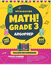 Introducing MATH! Grade 3 by ArgoPrep: 600+ Practice Questions + Comprehensive Overview of Each Topic + Detailed Video Explanations Included    3rd Grade Math Workbook