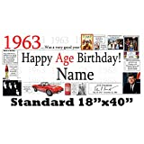 1963 55th Birthday Personalized Banner by Partypro