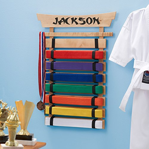 DIBSIES Personalization Station Personalized Karate Belt Display (8 Belts)