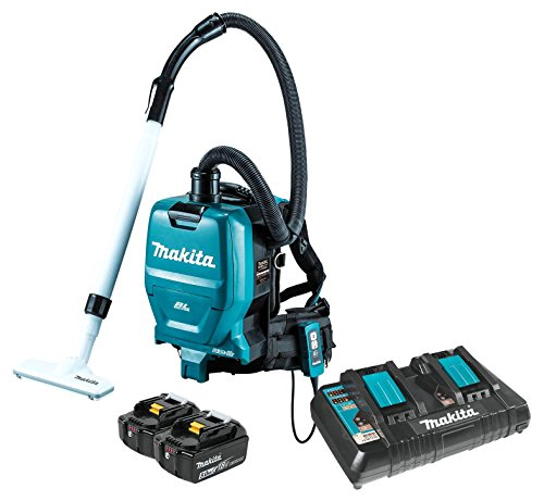 Makita XCV05PT 18V X2 LXT Lithium-Ion (36V) Brushless Cordless 1/2 Gallon HEPA Filter Backpack Dry Dust Extractor/Vacuum Kit (5.0Ah)